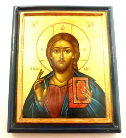 Håndmalte tradisjonelle ikoner